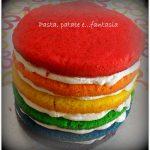 Rainbow cake con crema al mascarpone