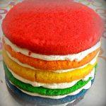 Rainbow cake con crema al mascarpone. Come farla perfetta.