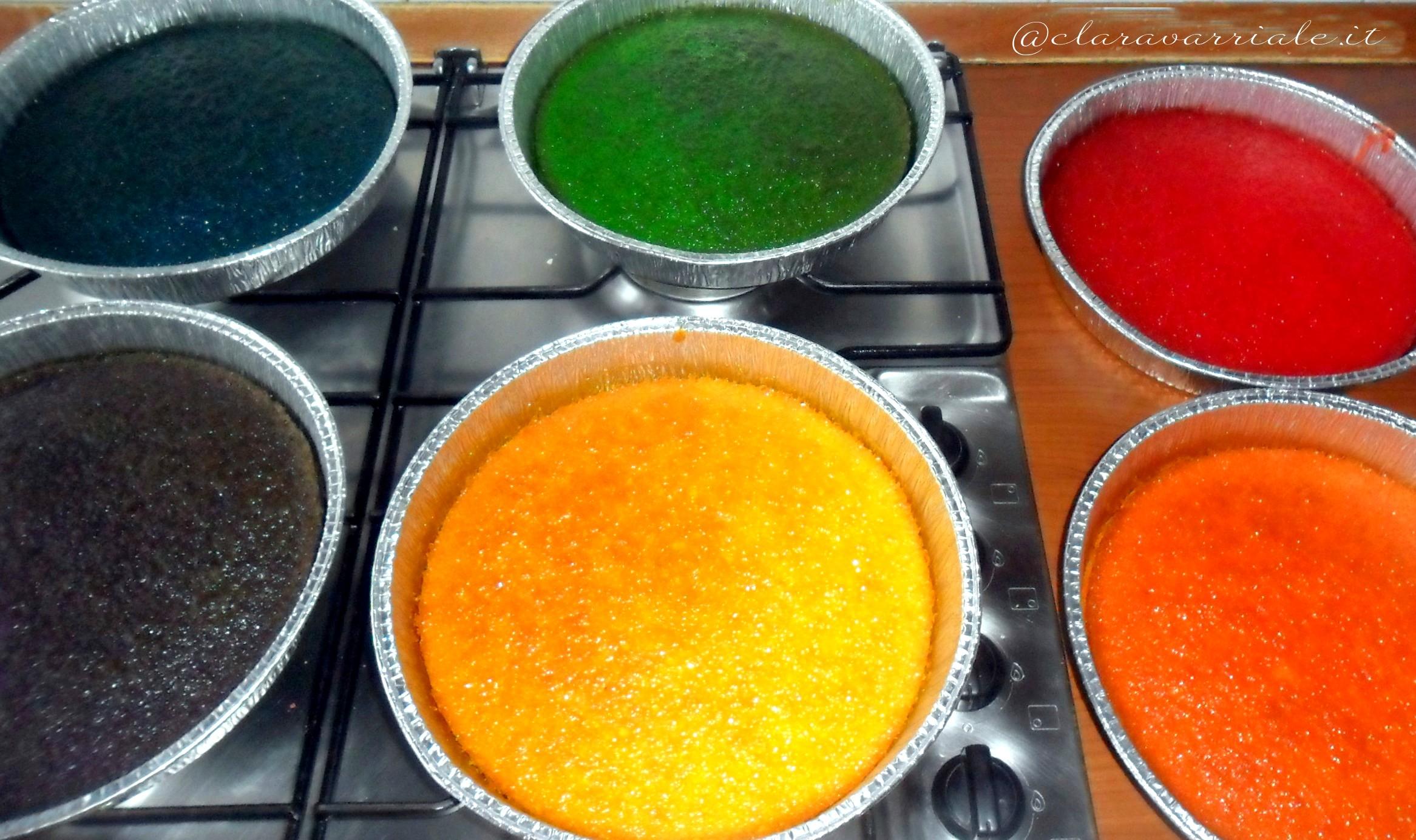 come fare la rainbow cake
