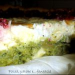 Crostata con broccoli e barbabietole