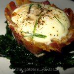 Cestini di pancetta e uova