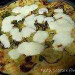 Pizza zucchine, patate e provola