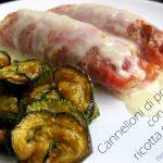 Cannelloni di prosciutto con ricotta e spinaci