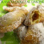 Ravioli dolci al limone