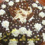 Torta di biscotti con crema alla vaniglia