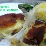 Gattoncino mozzarella e basilico
