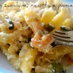 Penne con zucchine, ricotta e pancetta
