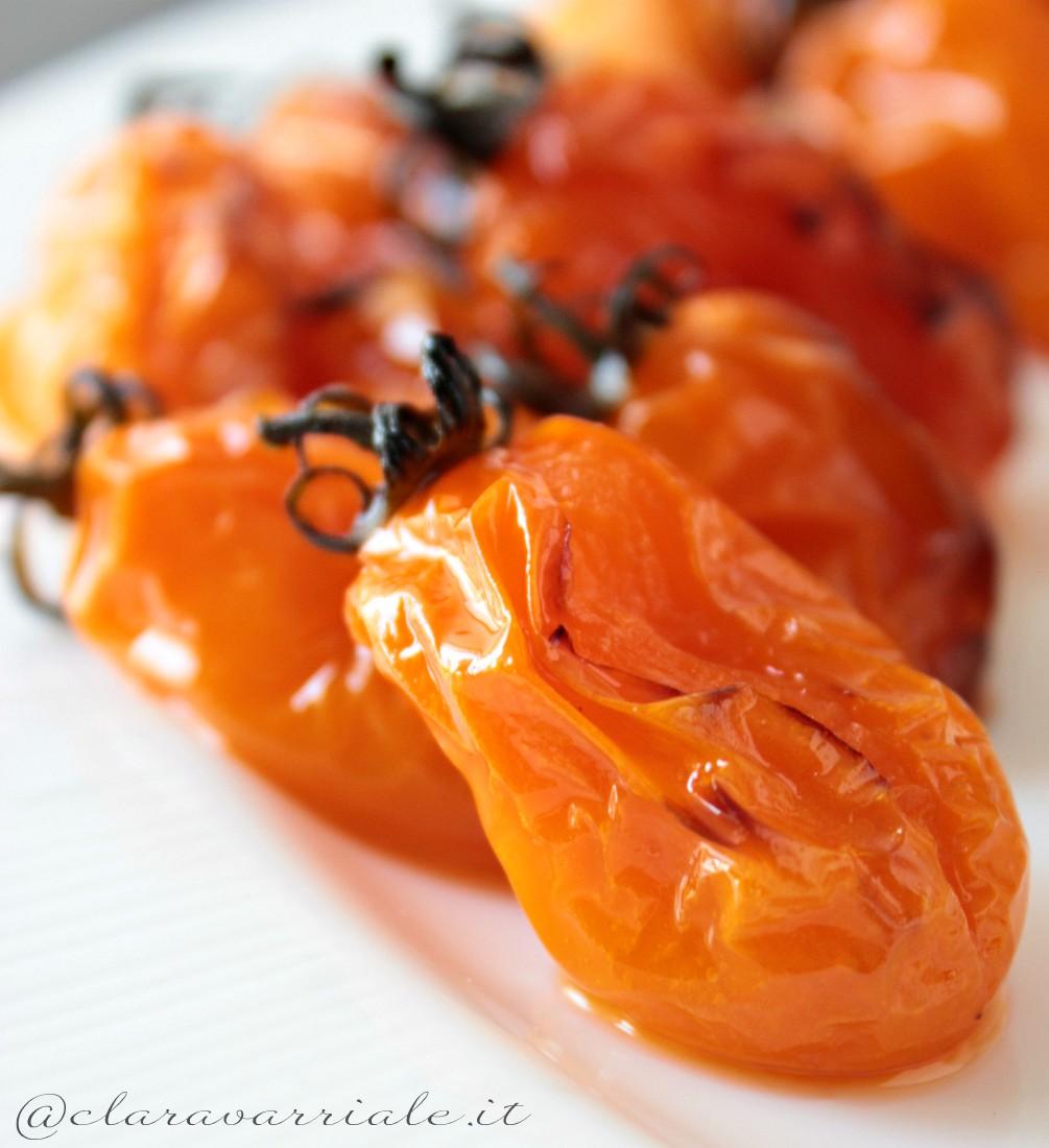 pomodorini gialli al forno