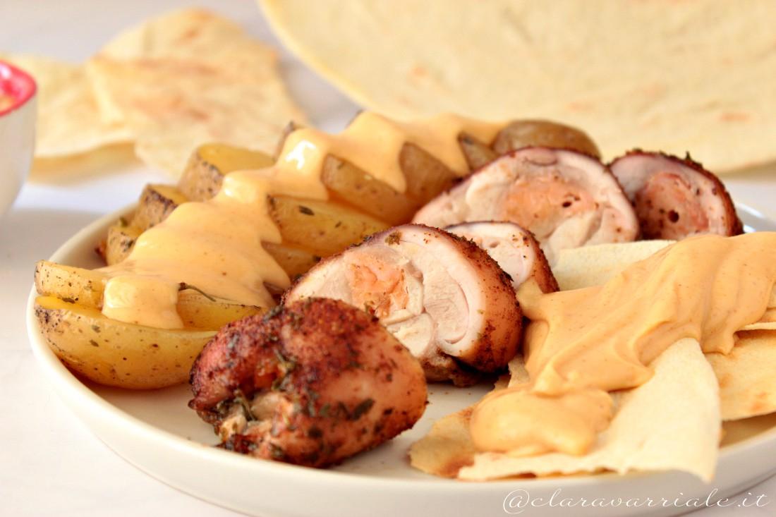 involtini di pollo con salmone affumicato