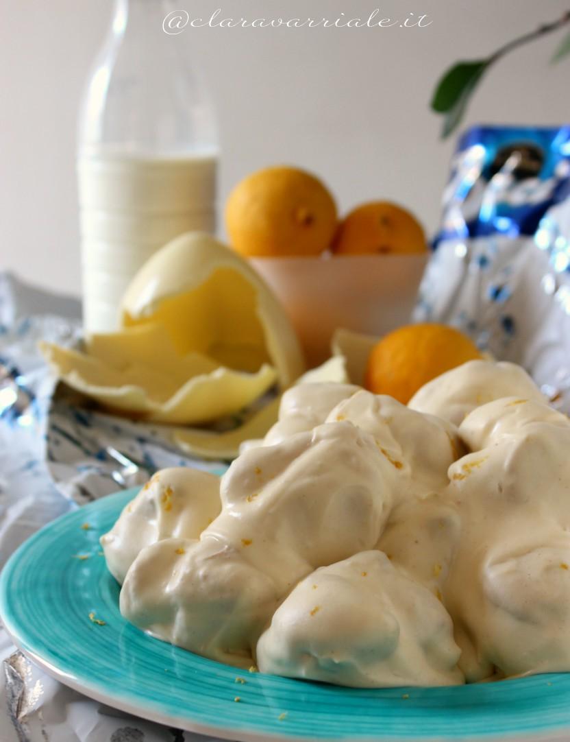 profiterole con crema al limone